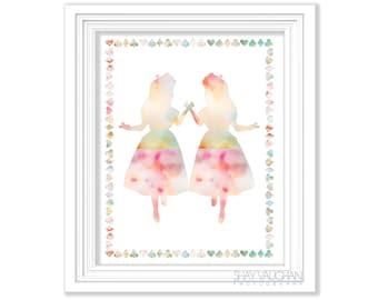 Alice In Wonderland Art Print Pastels Nursery Decor Home Decor Children's Room Poster Nursery Art Wall Art Baby's Room Gift (No.306)