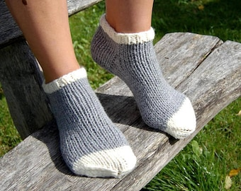 Knit Slippers Socks, Christmas Socks, Knitted Wool Slipper Boots, Bed Socks, Hand Knit Indoor Clogs Socks for Home, Indoor clogs