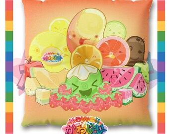 Kawaii Universe - Cute Classic Fruits Group Designer Meditation / Floor Pillow