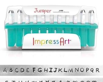 Metal Stamping Kit Impressart JUNIPER Uppercase Alphabet Metal Stamps 3mm Impression +Bonus Stamps-No Shipping Costs within US-