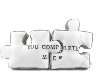 puzzle pillow - customized gift for anniversary, wedding, birthday