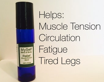 Relief Aromatherapy Roll On, restless legs, muscle tension, stress