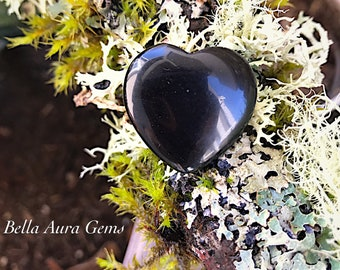 Black Obsidian Heart-Puffy Heart