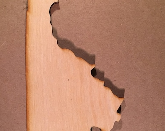 VA Virginia Wooden Cutouts - Shapes for Projects or Other Use