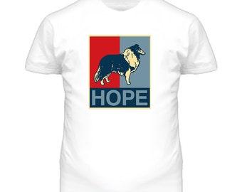 Collie Custom Dog Breed Hope Parody T Shirt
