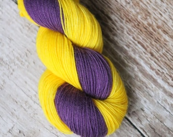 Hand dyed sock yarn Merino nylon blend superwash, Twister