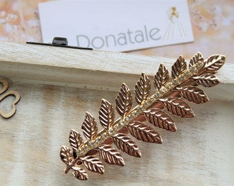 ON SALE Laurel Leaf Headpiece, Bridal Headpiece, Grecian Wedding  Hair Clip,Gold  Bridesmaid Headpiece, Bridesmaid  gift , Laurel Hair clip