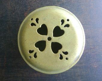 Vintage, Brass Incense Container