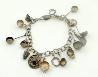 Very Old Vintage Sterling Silver Camp Cooks Charm Bracelet FREE SHIPPING!! #COOK-LB1