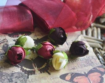 2pc Artificial fabric flowers I Rose buds I Flower heads I Wedding flowers I Corsage flowers I Silk flowers I Garland flowers I Roses