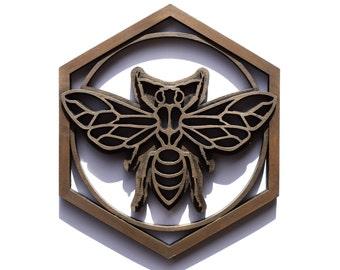 Bronze Resin Bee Plaque