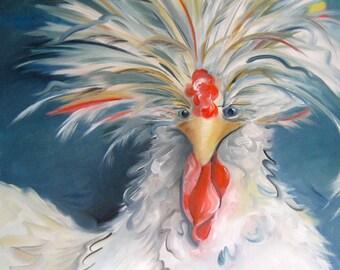 CHAPEL CHICKEN Original Oil Painting by Amy Hautman