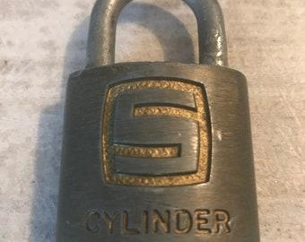 Vintage Slaymaker Cylinder Padlock,  Made In The USA