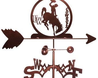 Hand Made U of Wyoming WYO Cowboys Cowgirls Weathervane *NEW*