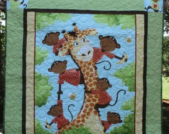 Just Monkeying Around Baby Quilt