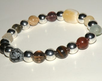 Stress Gemstone Healing Bracelet stretch *FREE SHIPPING USA* 468