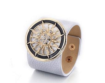 Silver Sun Cuff Bracelet
