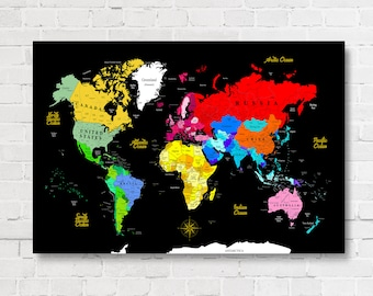 Pushpin Map, Detailed World Map, Push Pin Map, Map Of The World, Push Pin Travel Map, Push Pin World Map, Map Your Travels