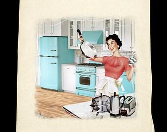 Classic Kitchen  - Turquoise Flour Sack Towel