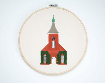Lee Chapel - Finished Embroidery Product in a 10-inch Hoop