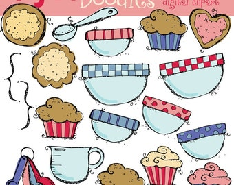 KPM Digital clipart baking cookies
