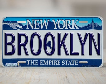 """452-""""Brooklyn New York State Plate """" front license plate, car license plate, license plate, cute license plate, front car tag, auto tags"""