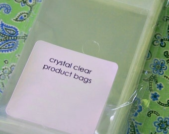 QTY 100 Ultra Clear Bags - Acid and Lignin Free - Business Card Size - 2.5 inch x 4.5 inch