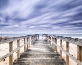 Beach Hampton Way Boardwalk Photograph Photo Print 8x10 Long Exposure