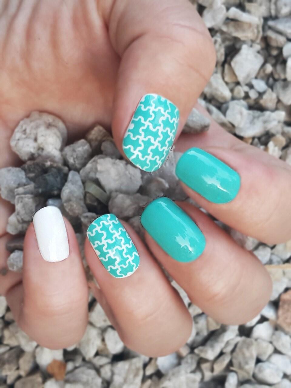 Puzzle Nail Stencils Set - incredible nail art vinyl stencils by ...