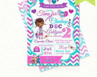 Doc Mcstuffins Invitations Doc Mcstuffins Birthday
