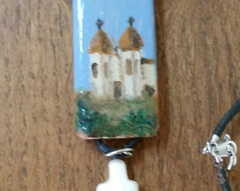Hand Painted Mission Pendant