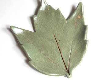 Maple Leaf - Spoon Rest - Tea Bag Rest - Ring Dish - Trinket Tray