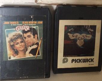 Vintage GREASE Soundtrack 8 Track Tapes