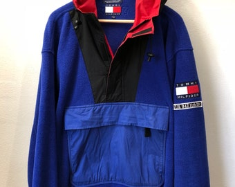 Tommy Hilfiger Alpine Gear fleece anorak jacket large