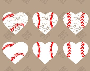 Distressed Heart Baseball svg - Distressed Heart Baseball digital clipart for Print, Design or more, files download svg, png, dxf