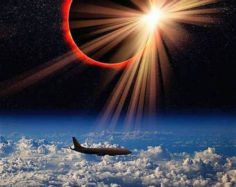 Eclipse seen from a jet