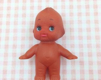 Kewpie Doll - 5 cm brown plastic Kewpie doll