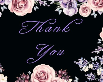 Butterflies and Roses Thank You Card