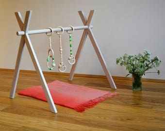 Play gym, Montessori toy, Baby activity center, Baby gym, Gym foldable, Wooden baby gym, Wooden gym, Baby fitness studio