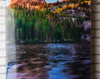 Resin Photo Art Photograph, Rocky Mountain National Park, Sunrise, Resin Photography, Bear Lake, 12 in by 18 in by 1.5 in, Ready To Ship