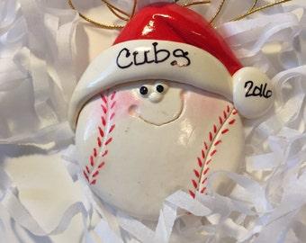Baseball Christmas Ornament/Personalized/Sports/Team