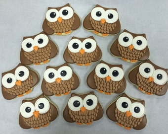 Owl Cookie Favors, Baby Shower Cookies, Birthday Party Cookies, Owl Theme Cookies, Best Owl Cookies, Custom Cookies for Birthdays