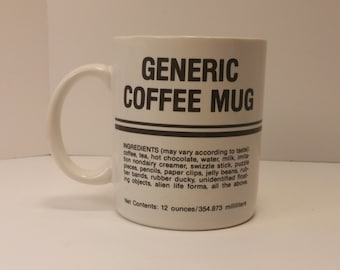 Vintage 1984 Hallmark Generic Coffee Mug - Gag Joke Gift - Coffee Cup Tea Cup Coffee Mug Tea Mug