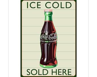 Coca-Cola Ice Cold Sold Here Vinyl Sticker - 158769