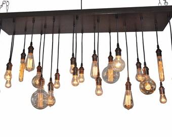 Edison Bulb Moment- Industrial Chandelier, Rustic Chandelier, Ceiling Light Fixture, Modern Lighting, Urban Lighting