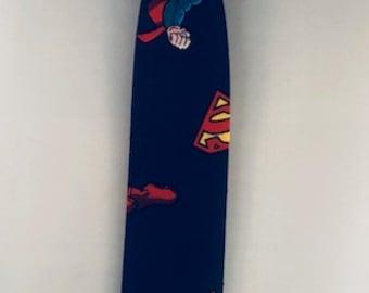 Superman Necktie or Bowtie Cartoon  Boys Toddler Cartoon Superhero Navy