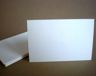 """50 flat cards - 2"""" x 3"""" , 2"""" x 3.5""""  - black, cream, kraft, white - business cards - wedding favors - flat place cards - party favor"""