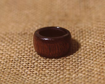 Hand made mahogany ring-ring for men-ring for women-wide ring