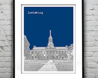 Lewisburg Skyline Poster Art Print Pennsylvania PA Item T1235