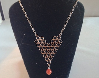 Red Hot Heart Necklace
